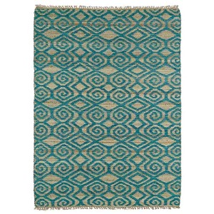 Kenwood Teal KEN02 Rectangular: 5 Ft. x 7 Ft. 9 In. Rug