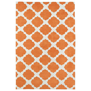 Lily and Liam Orange Rectangular: 2 Ft. x 3 Ft. Rug