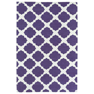Lily and Liam Purple Rectangular: 2 Ft. x 3 Ft. Rug