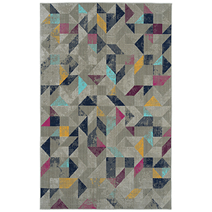 Zuma Beach Multicolor Machine Made 5Ft. 3In x 7Ft. 3In Rectangle Rug