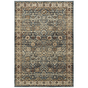 McAlester Blue Machine Made 5Ft. 3In x 7Ft. 3In Rectangle Rug