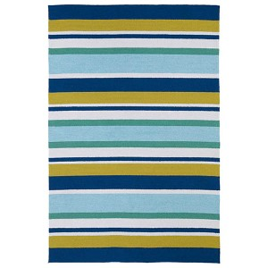 Matira Blue and Teal Rectangular: 5 Ft. x 7 Ft. 6 In. Rug