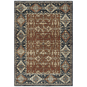 McAlester Paprika Machine Made 2Ft. x 3Ft. Rectangle Rug