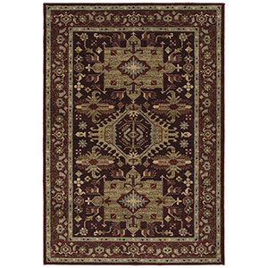 McAlester Burgundy Machine Made 9Ft. x 13Ft. Rectangle Rug