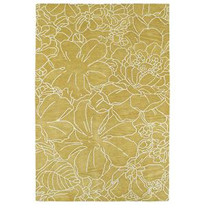 Melange Yellow Rectangular: 9 Ft. x 12 Ft.