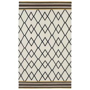Nomad Black and Mustard Rectangular: 5 Ft. x 8 Ft. Rug