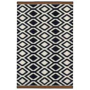 Nomad Black and Red Rectangular: 5 Ft. x 8 Ft. Rug