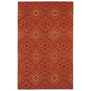 Nomad Red and Gold Rectangular: 5 Ft. x 8 Ft. Rug