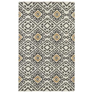 Nomad Charcoal and Beige Rectangular: 5 Ft. x 8 Ft. Rug