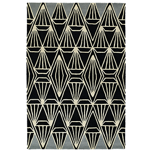 Origami Black Rectangular: 2 Ft. x 3 Ft.