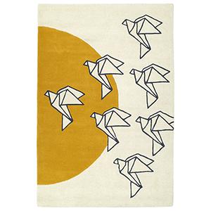 Origami Ivory Runner: 2 Ft. 6 In. x 8 Ft.