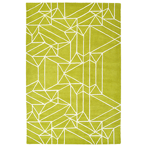 Origami Lime Green Rectangular: 2 Ft. x 3 Ft.