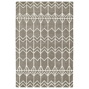 Origami Grey Rectangular: 5 Ft. x 7 Ft. 6 In.