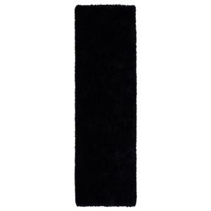Posh Black PSH01 Runner: 2 Ft. 3 In. x 8 Ft. Rug