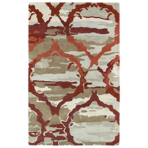 Brushstrokes Red Hand-Tufted 9Ft. 6In x 13Ft. Rectangle Rug