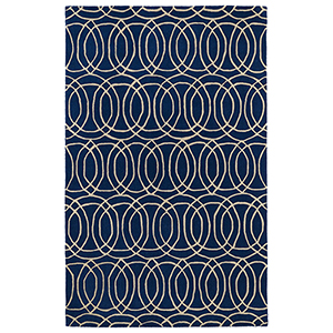 Revolution Navy Hand Tufted 11Ft. 9In Round Rug
