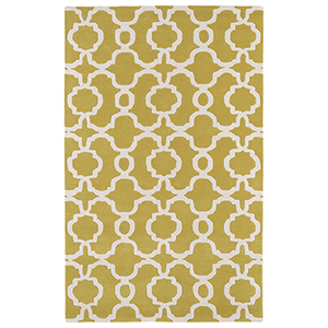 Revolution Yellow Hand Tufted 11Ft. 9In Round Rug
