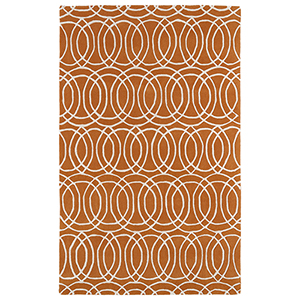 Revolution Orange Hand Tufted 11Ft. 9In Round Rug