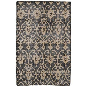 Restoration Black and Charcoal Rectangular: 5 Ft. 6 In. x 8 Ft. 6 In. Rug