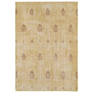 Restoration Gold and Beige Rectangular: 5 Ft. 6 In. x 8 Ft. 6 In. Rug