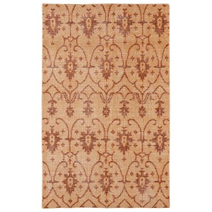 Restoration Paprika and Apricot Rectangular: 5 Ft. 6 In. x 8 Ft. 6 In. Rug