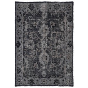 Restoration Black and Brown Rectangular: 5 Ft. 6 In. x 8 Ft. 6 In. Rug
