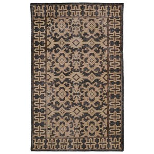 Restoration Black Rectangular: 5 Ft. 6 In. x 8 Ft. 6 In. Rug