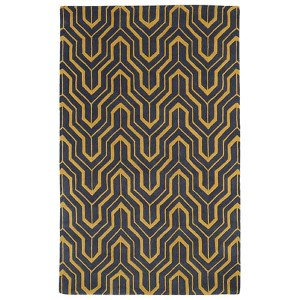 Revolution Yellow and Charcoal Rectangular: 5 Ft. x 7 Ft. 9 In. Rug