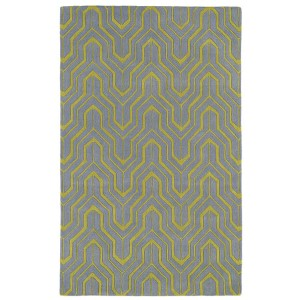 Revolution Grey and Wasabi Rectangular: 5 Ft. x 7 Ft. 9 In. Rug