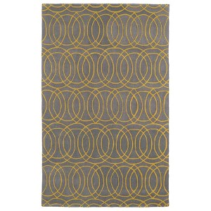 Revolution Yellow and Milk Chocolate Brown Rectangular: 5 Ft. x 7 Ft. 9 In. Rug
