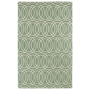 Revolution Mint and Ivory Rectangular: 5 Ft. x 7 Ft. 9 In. Rug