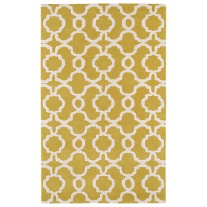 Revolution Yellow and Ivory Rectangular: 5 Ft. x 7 Ft. 9 In. Rug