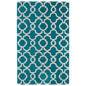 Revolution Teal Rectangular: 5 Ft. x 7 Ft. 9 In. Rug