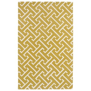 Revolution Yellow Rectangular: 5 Ft. x 7 Ft. 9 In. Rug