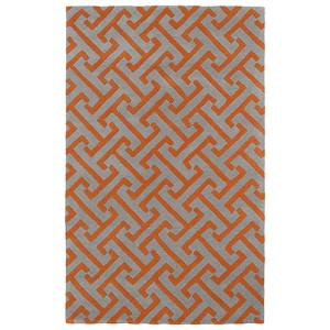 Revolution Grey and Orange Rectangular: 5 Ft. x 7 Ft. 9 In. Rug