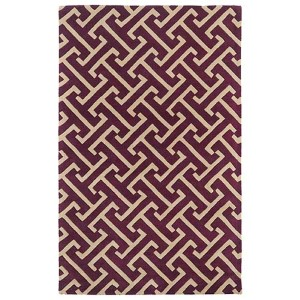 Revolution Plum and Beige Rectangular: 5 Ft. x 7 Ft. 9 In. Rug