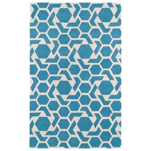 Revolution Blue Rectangular: 5 Ft. x 7 Ft. 9 In. Rug