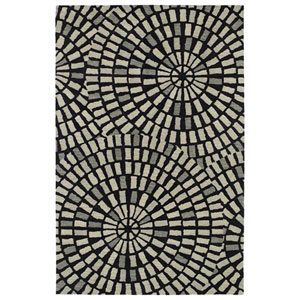 Rosaic Black Rectangular: 3 Ft. 6-Inch x 5 Ft. 6-Inch Rug