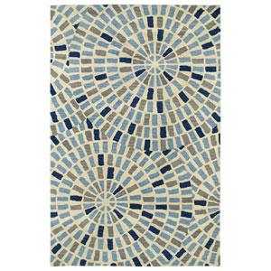 Rosaic Blue Rectangular: 2 Ft. x 3 Ft. Rug