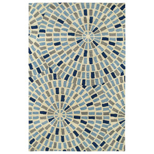 Rosaic Blue Rectangular: 3 Ft. 6-Inch x 5 Ft. 6-Inch Rug