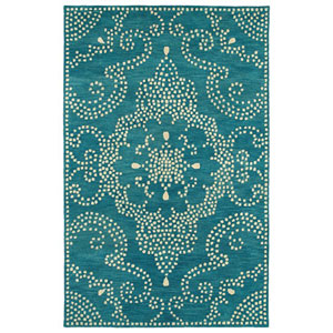 Rosaic Teal Rectangular: 2 Ft. x 3 Ft. Rug