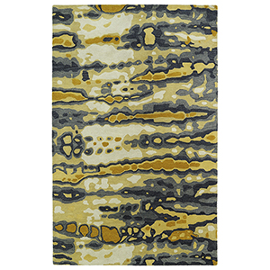 Brushstrokes Gold Hand-Tufted 9Ft. 6In x 13Ft. Rectangle Rug