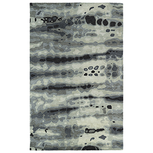 Brushstrokes Grey Hand-Tufted 9Ft. 6In x 13Ft. Rectangle Rug