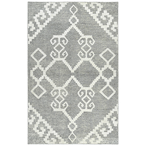 Solitaire Grey Hand-Woven 5Ft. x 7Ft. 9In Rectangle Rug
