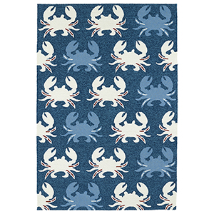 Sea Isle Navy Rectangular: 5 Ft. x 7 Ft. 6 In.