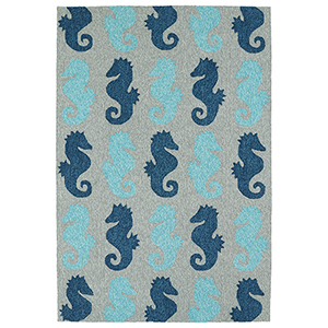 Sea Isle Blue Rectangular: 9 Ft. x 12 Ft.