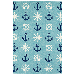 Sea Isle Blue Runner: 2 Ft. x 6 Ft.