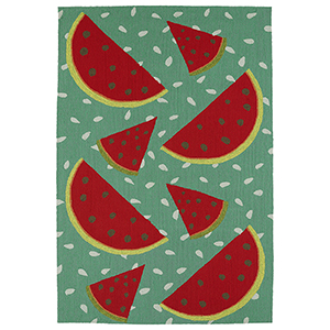 Sea Isle Watermelon Rectangular: 9 Ft. x 12 Ft.