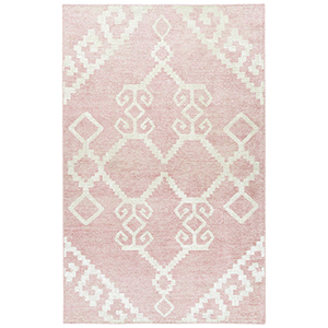 Solitaire Pink Hand-Woven 4Ft. x 6Ft. Rectangle Rug