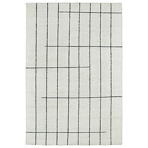 Solitaire Ivory Rectangular: 2 Ft. x 3 Ft.